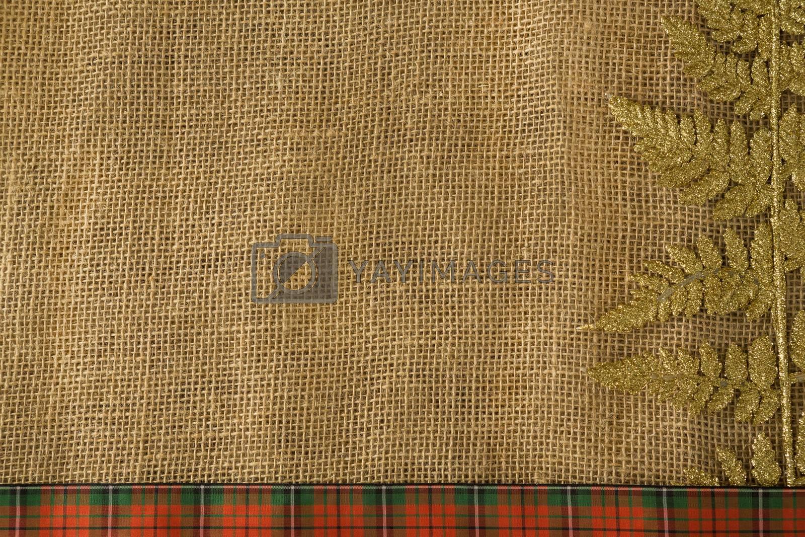 Christmas decoration on fabric by Wavebreakmedia