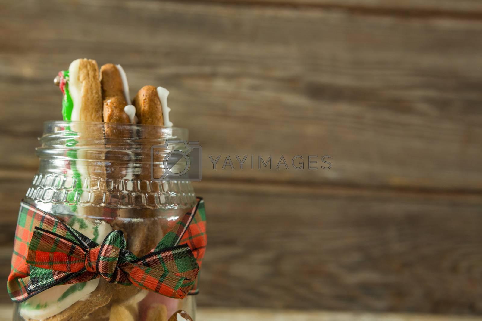 Gingerbread cookies in jar by Wavebreakmedia
