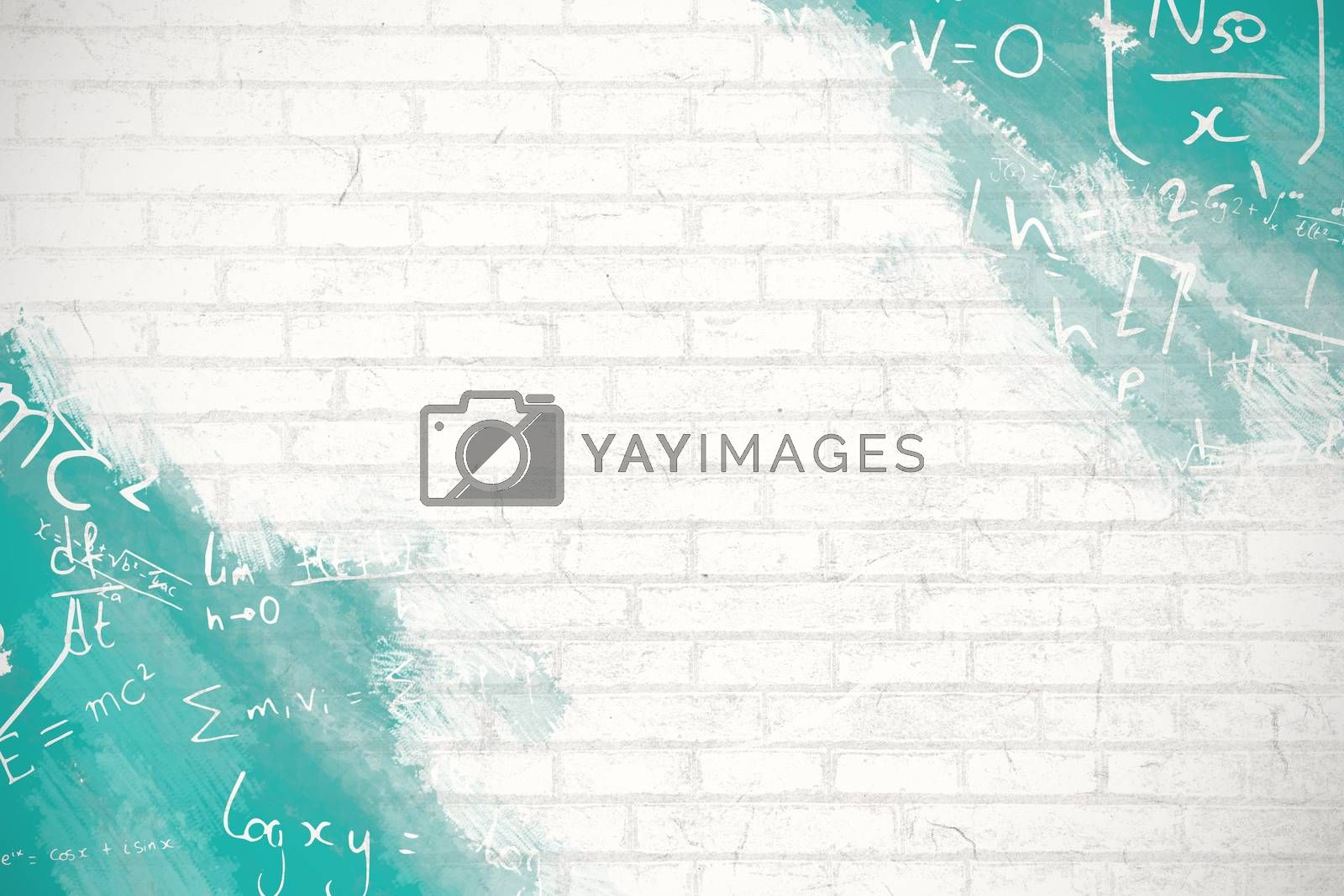 Composite image of digital image of equations by Wavebreakmedia