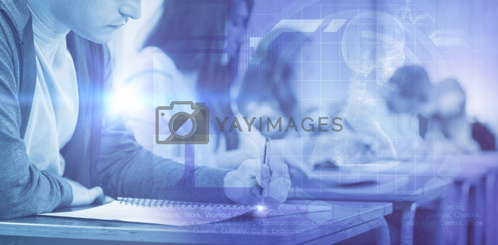 Composite image of medical interface by Wavebreakmedia
