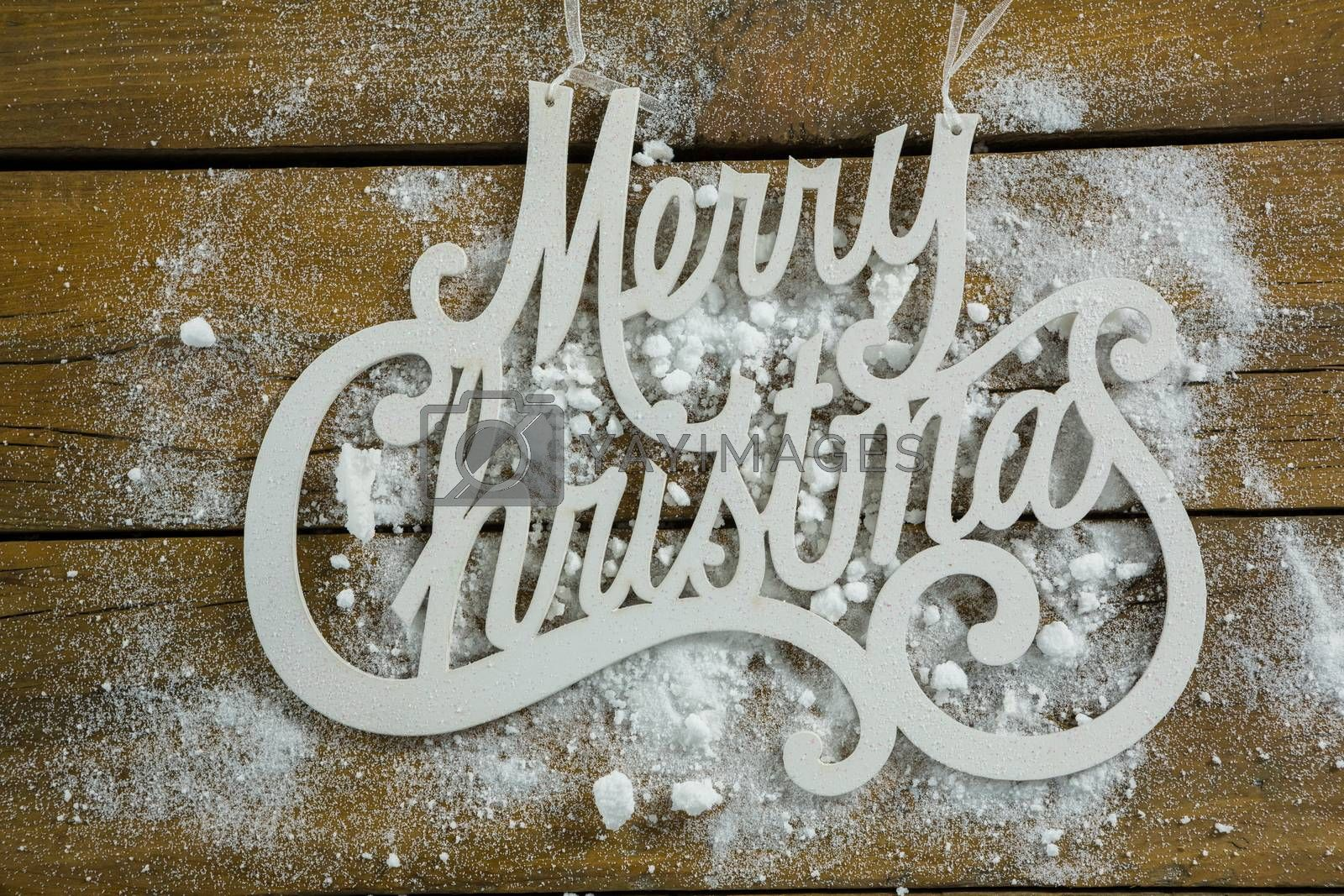 Merry Christmas text with artificial snow by Wavebreakmedia