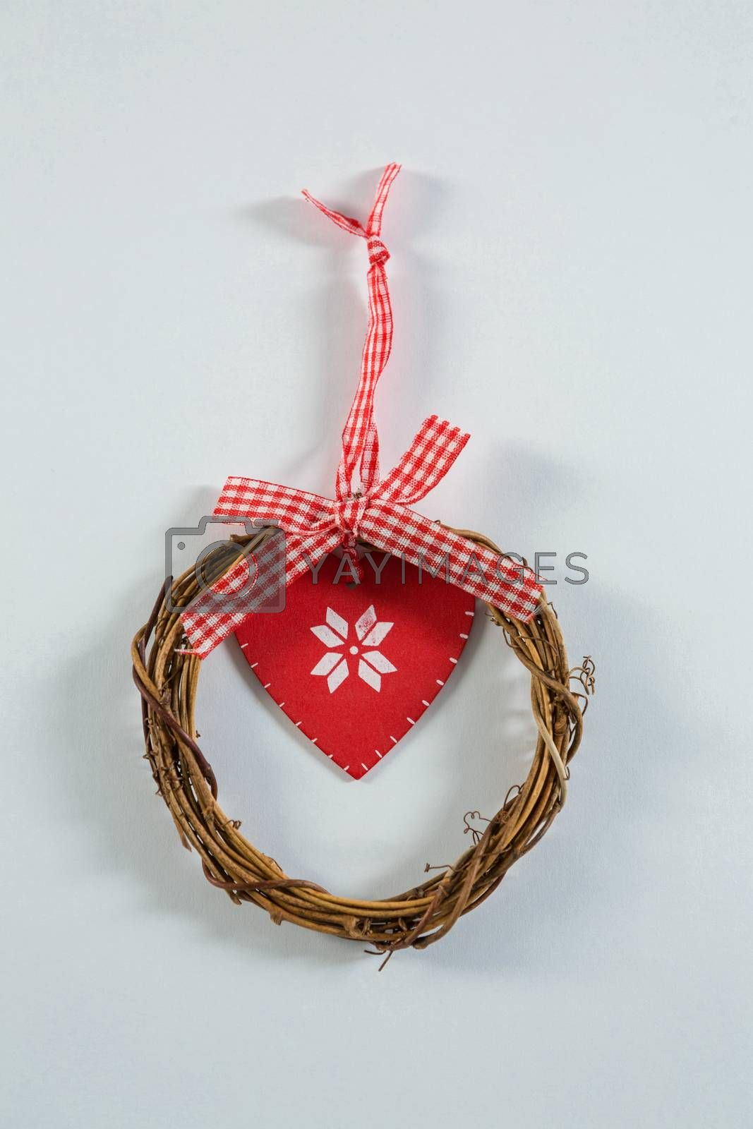 Close up of wreath with ribbon by Wavebreakmedia