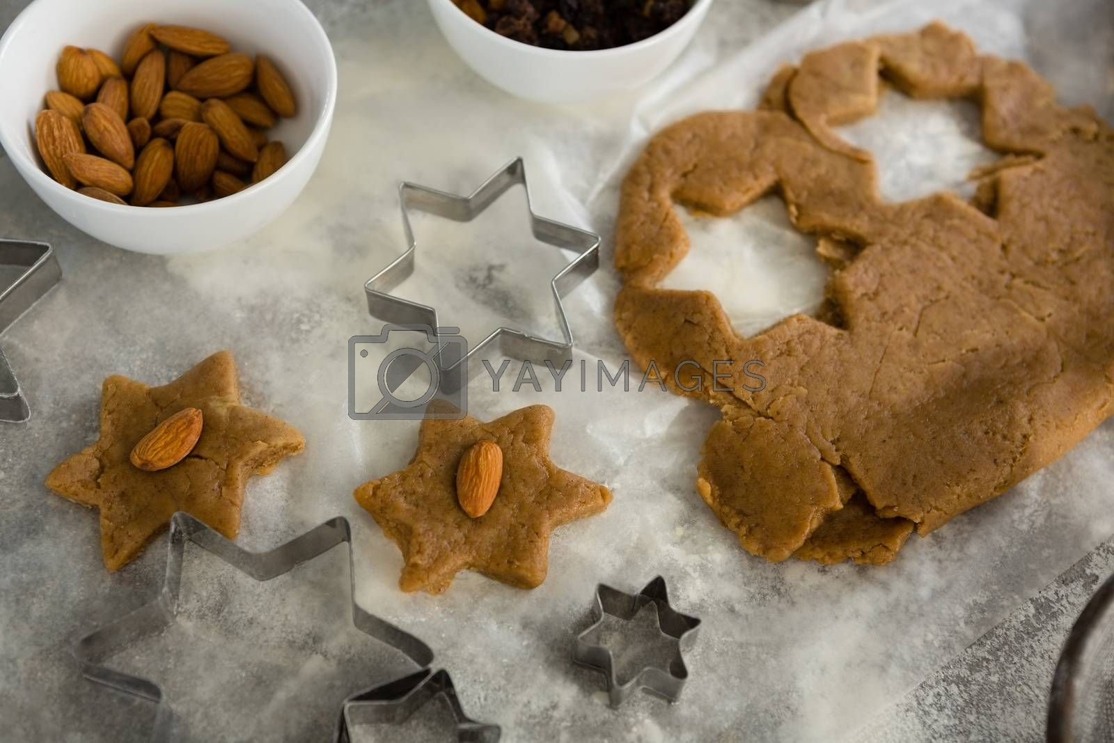 Cookies with almond on top by Wavebreakmedia