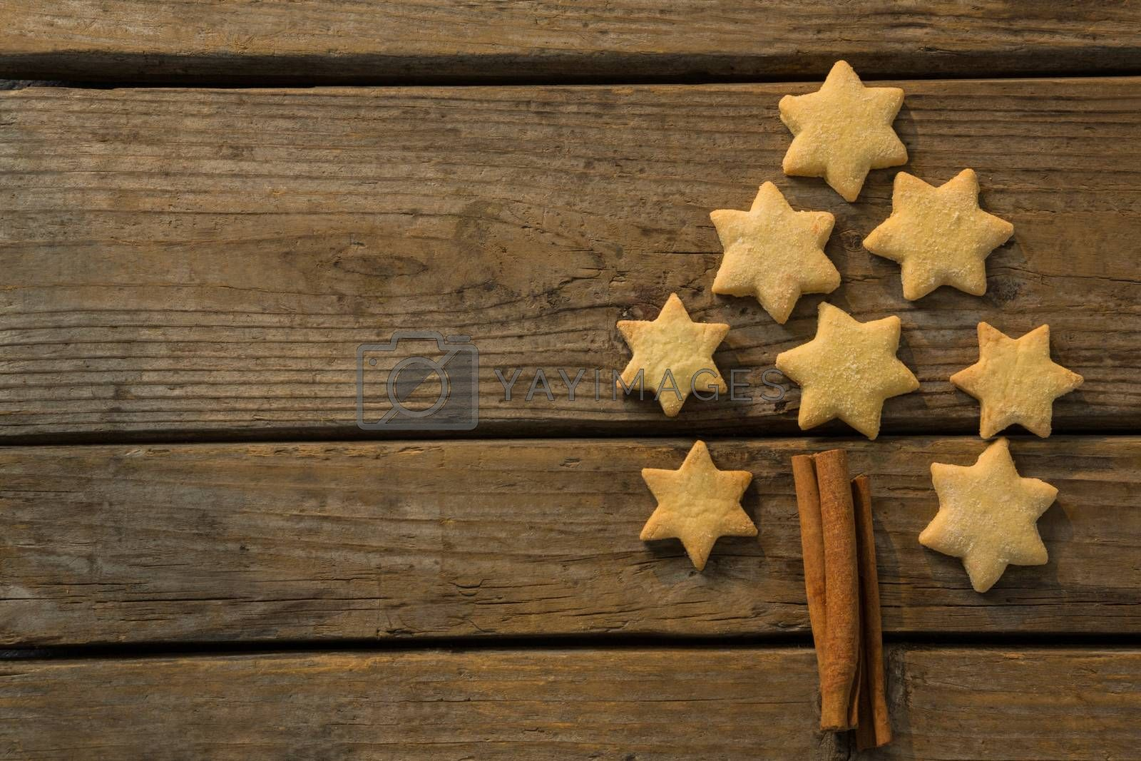 Christmas tree made with star shape cookie and cinnamon stick by Wavebreakmedia
