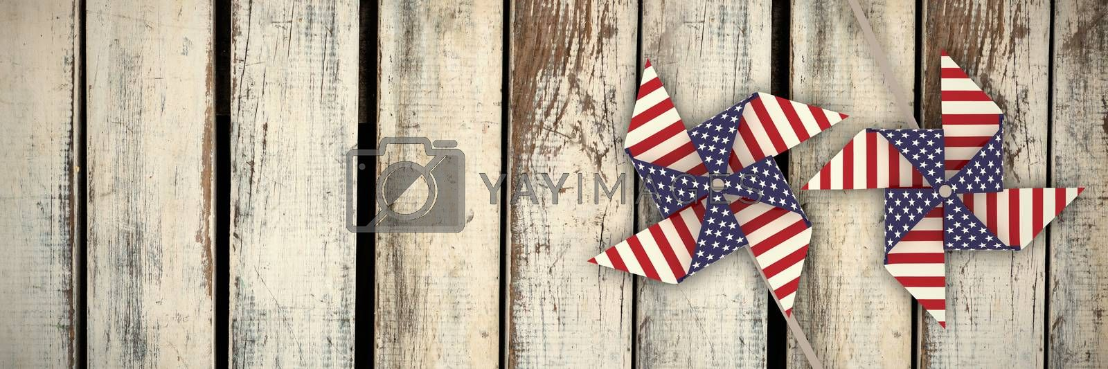 Composite image of 3d image composite of pinwheel with american flag pattern by Wavebreakmedia