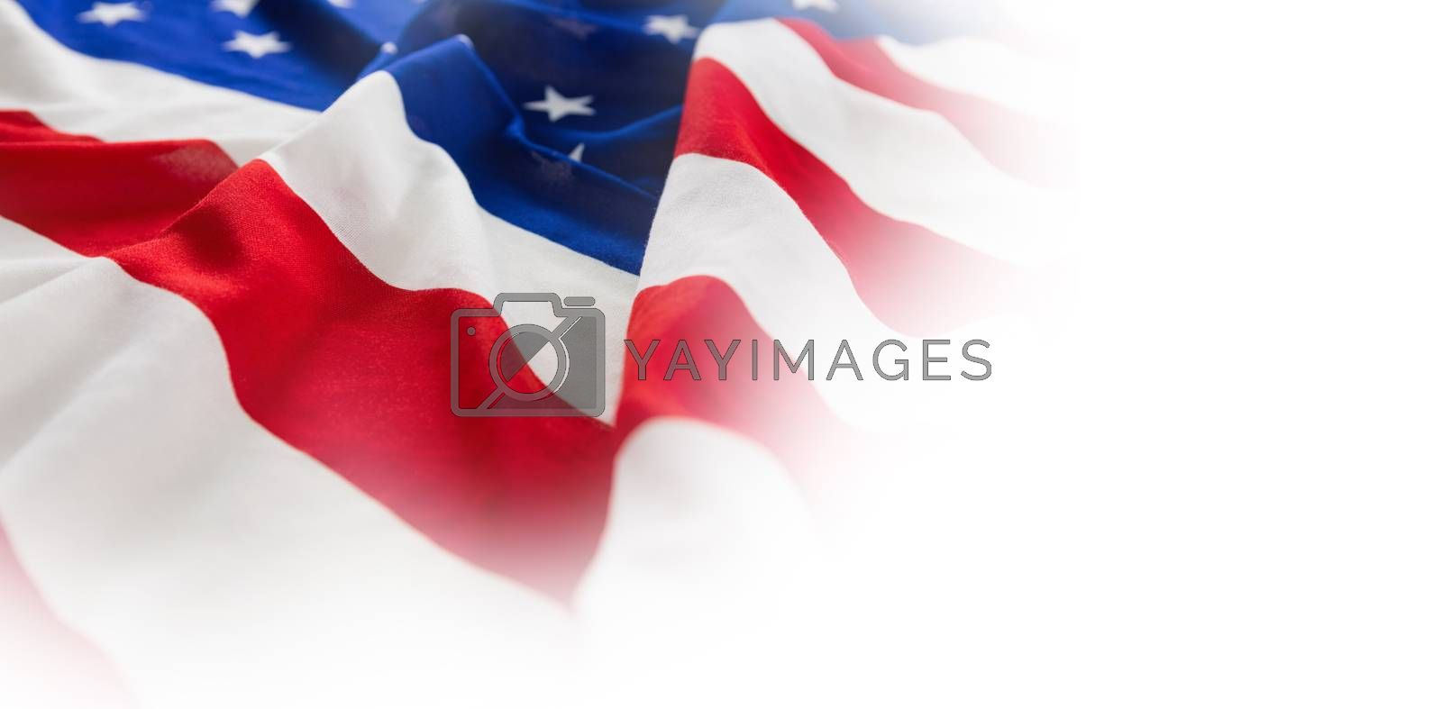Close-up of wrinkled American flag by Wavebreakmedia
