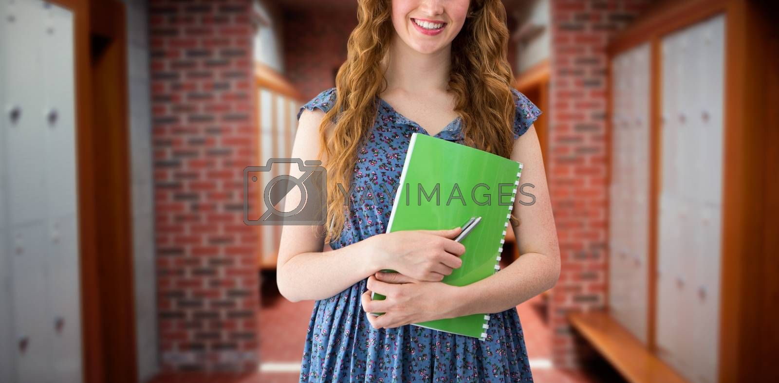 Composite image of happy student by Wavebreakmedia