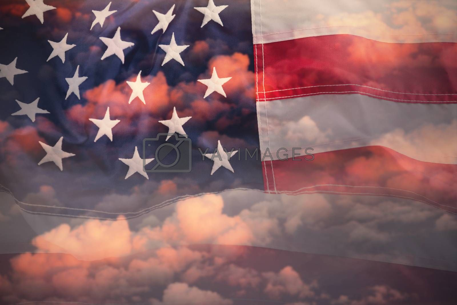 Composite image of full frame of wrinkled american flag by Wavebreakmedia