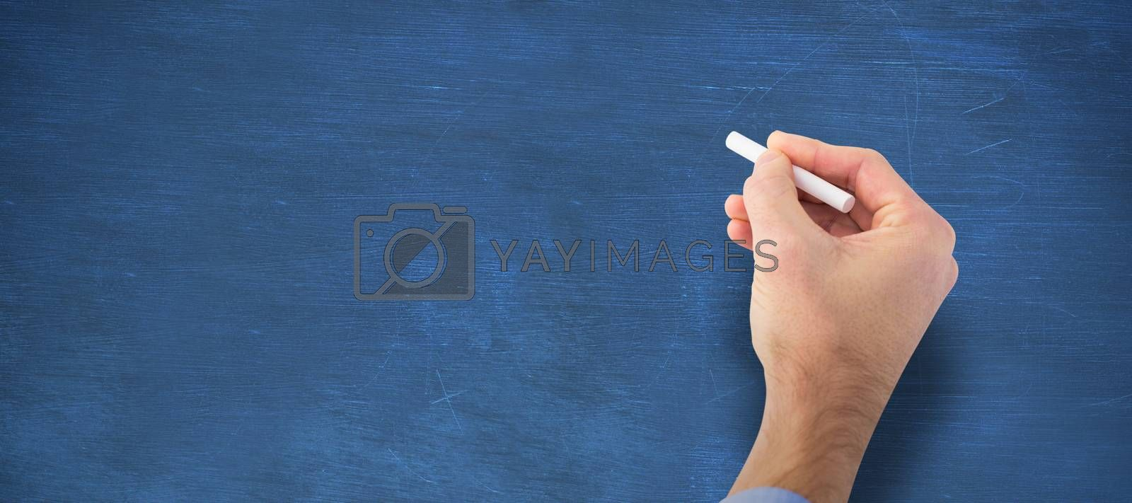 Composite image of hand writing with a white chalk by Wavebreakmedia