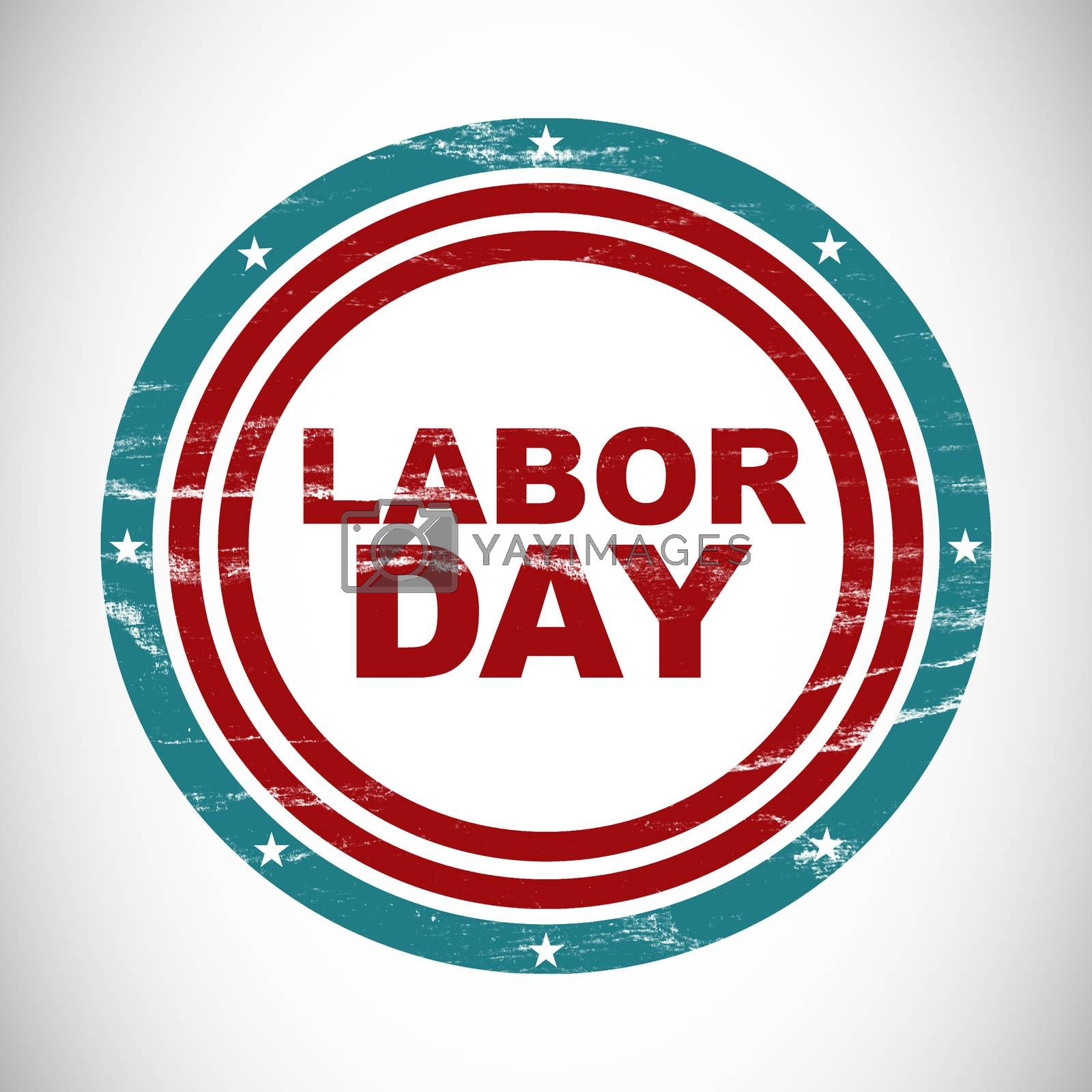 Labor day text in circles by Wavebreakmedia