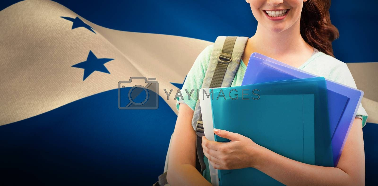 Composite image of smiling student by Wavebreakmedia