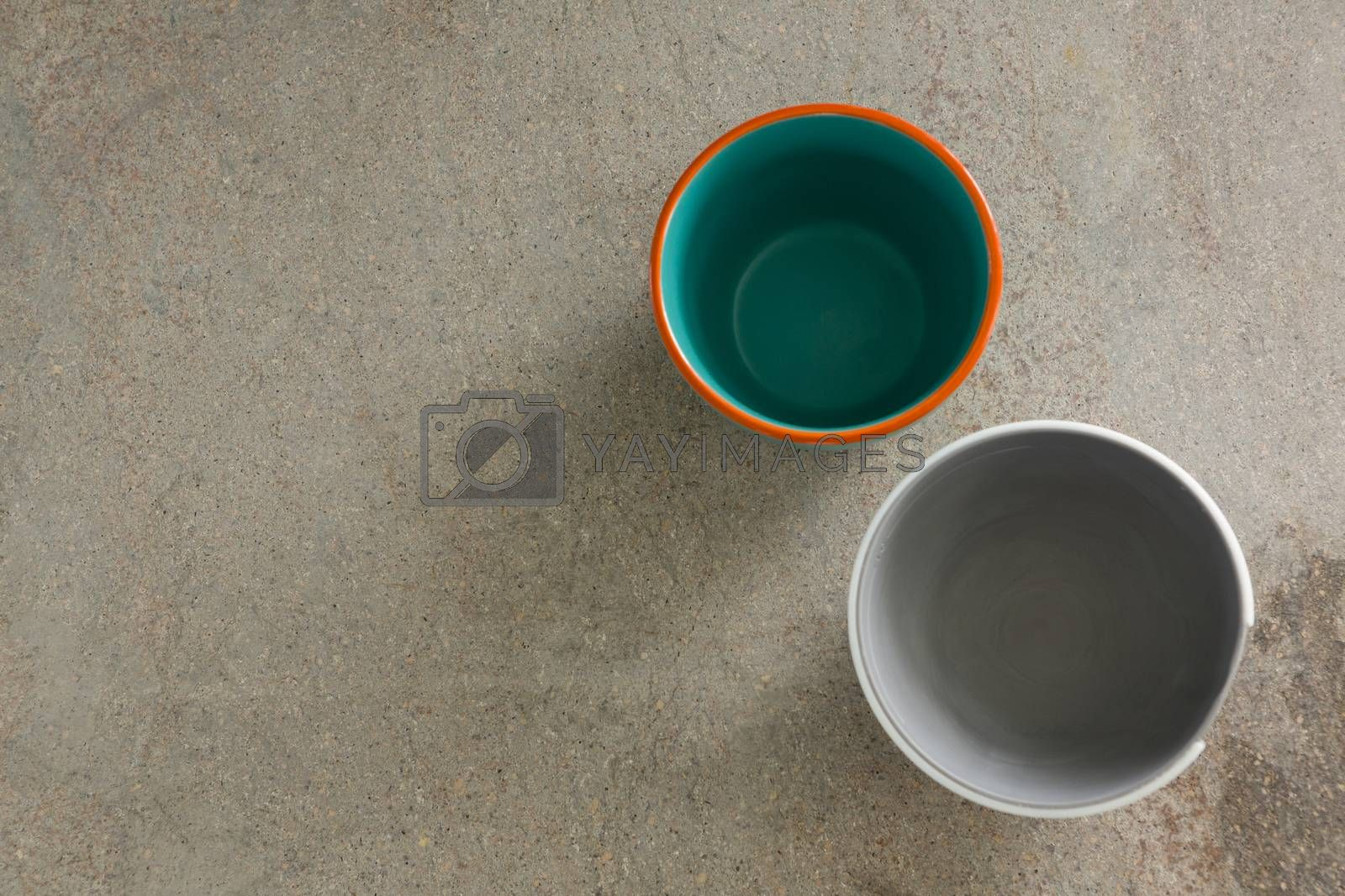 Two empty bowls on table by Wavebreakmedia