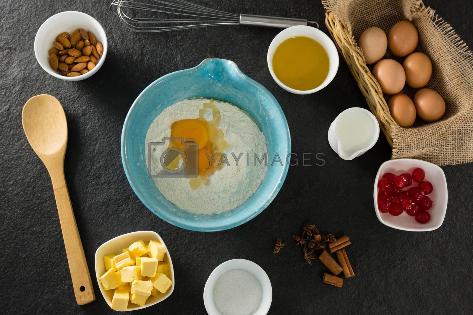 Gingerbread cookies ingredients on a table by Wavebreakmedia