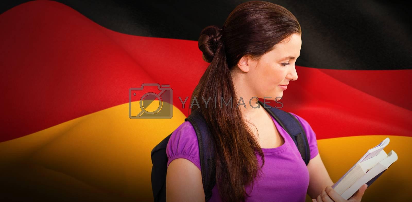Composite image of happy student by Wavebreakmedia