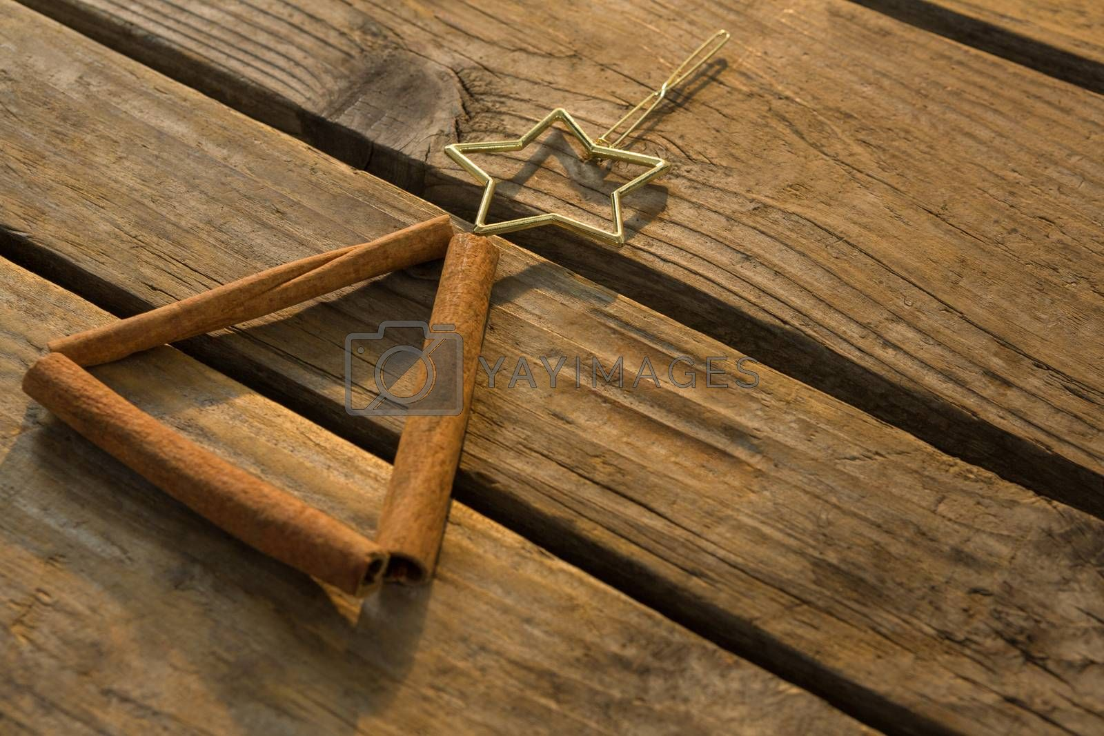 Close up of cinnamon stick with star shape by Wavebreakmedia