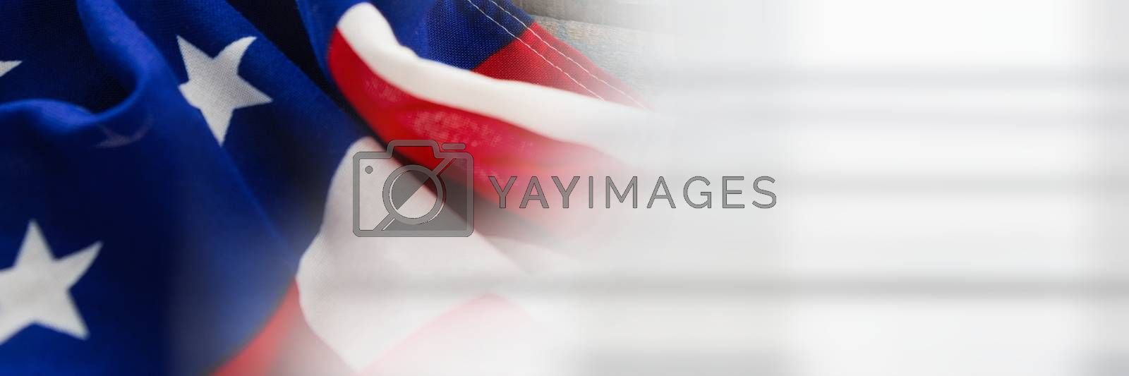 USA flag against with a white transition by Wavebreakmedia