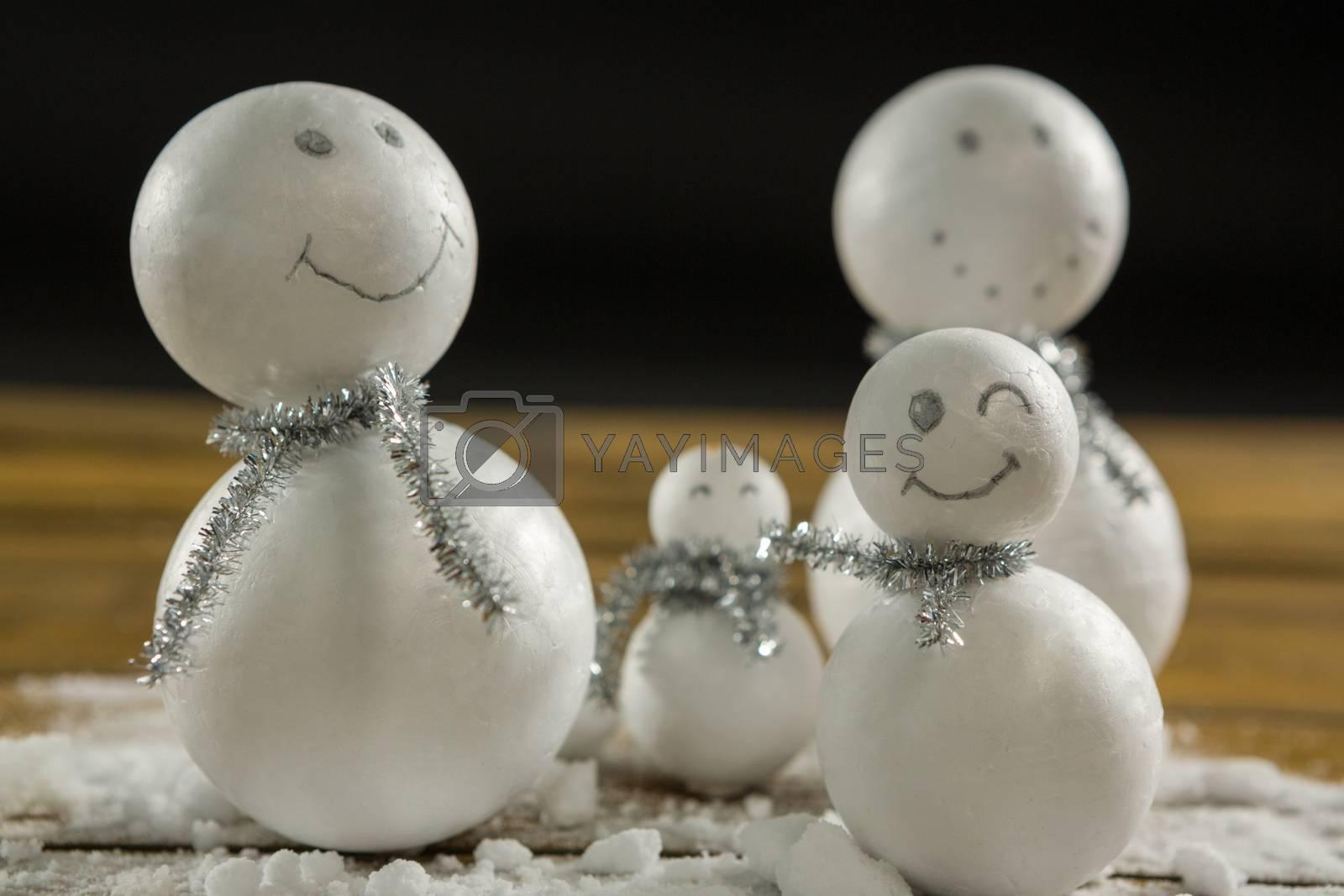 Artificial snowman decoration by Wavebreakmedia