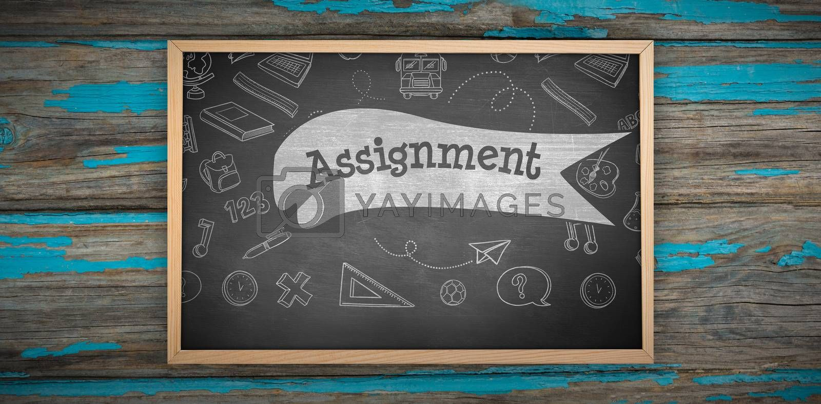 Composite image of image of ac chalkboard by Wavebreakmedia