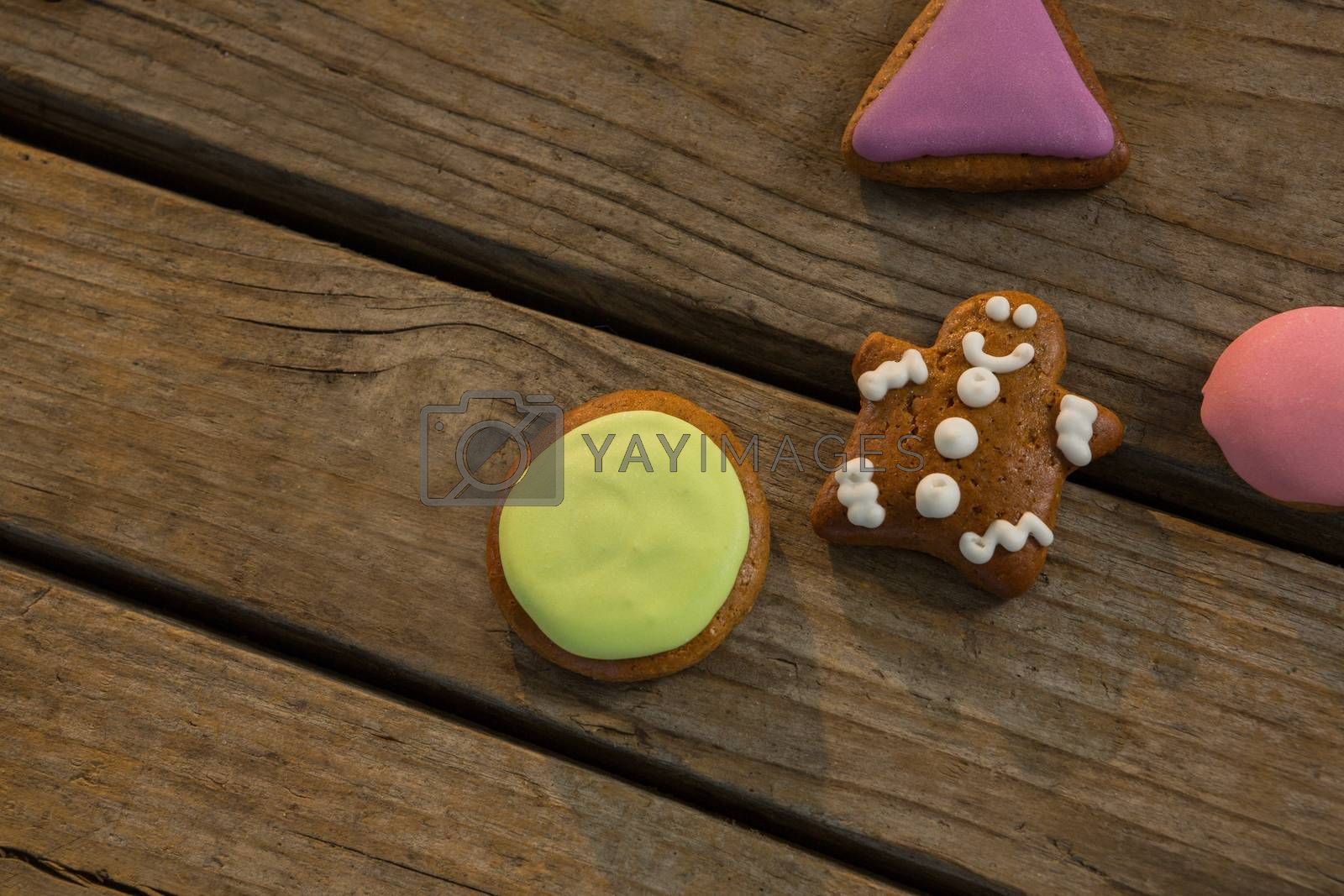 High angle view of various cookies on table during Christmas by Wavebreakmedia