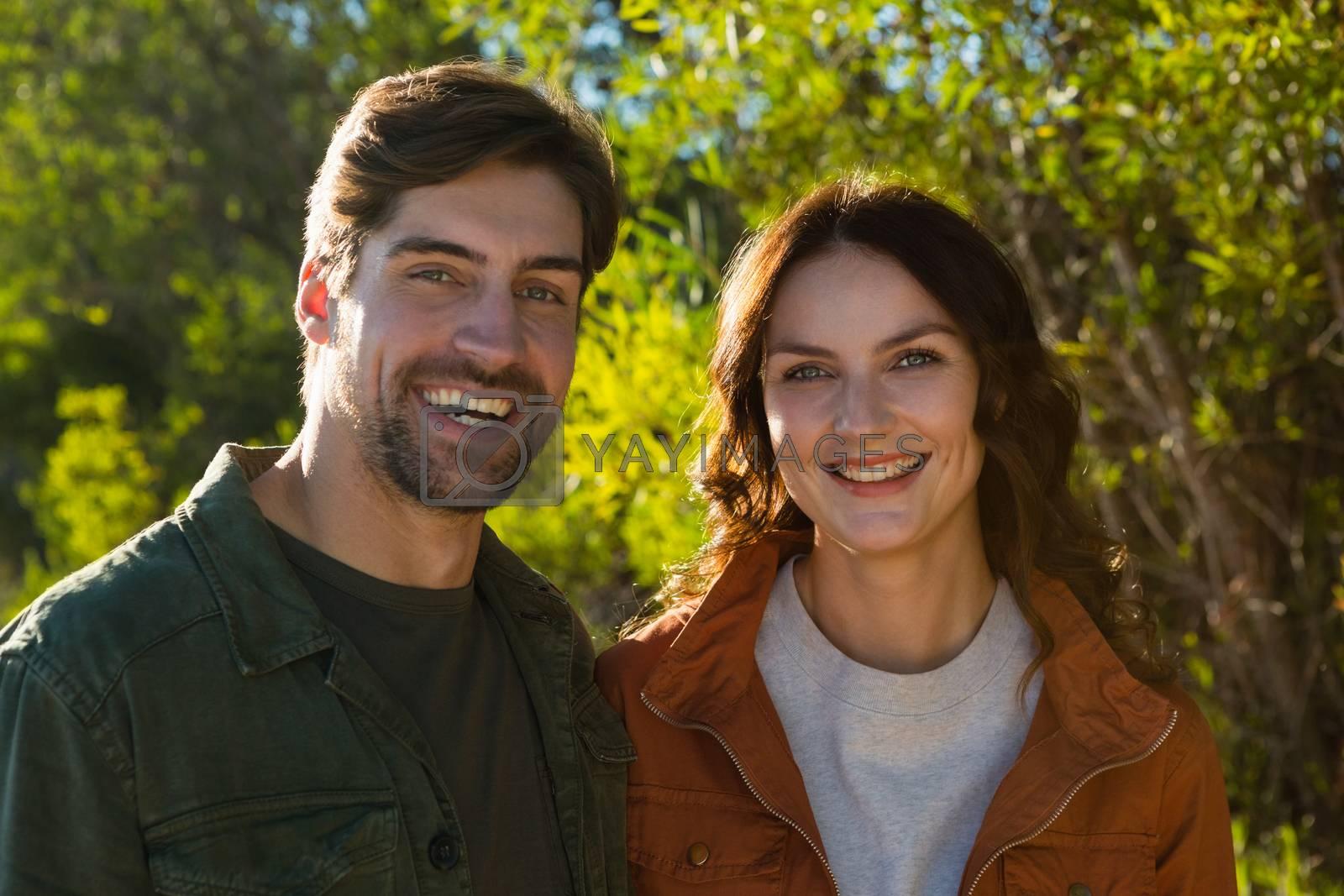Portrait of happy couple by Wavebreakmedia