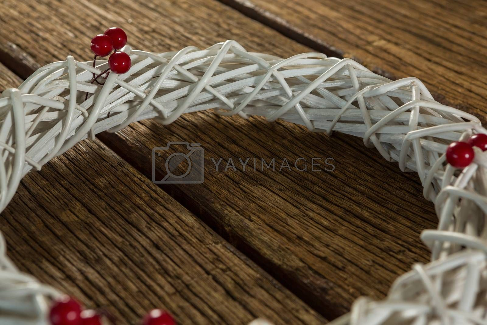 Close up of white wreath by Wavebreakmedia