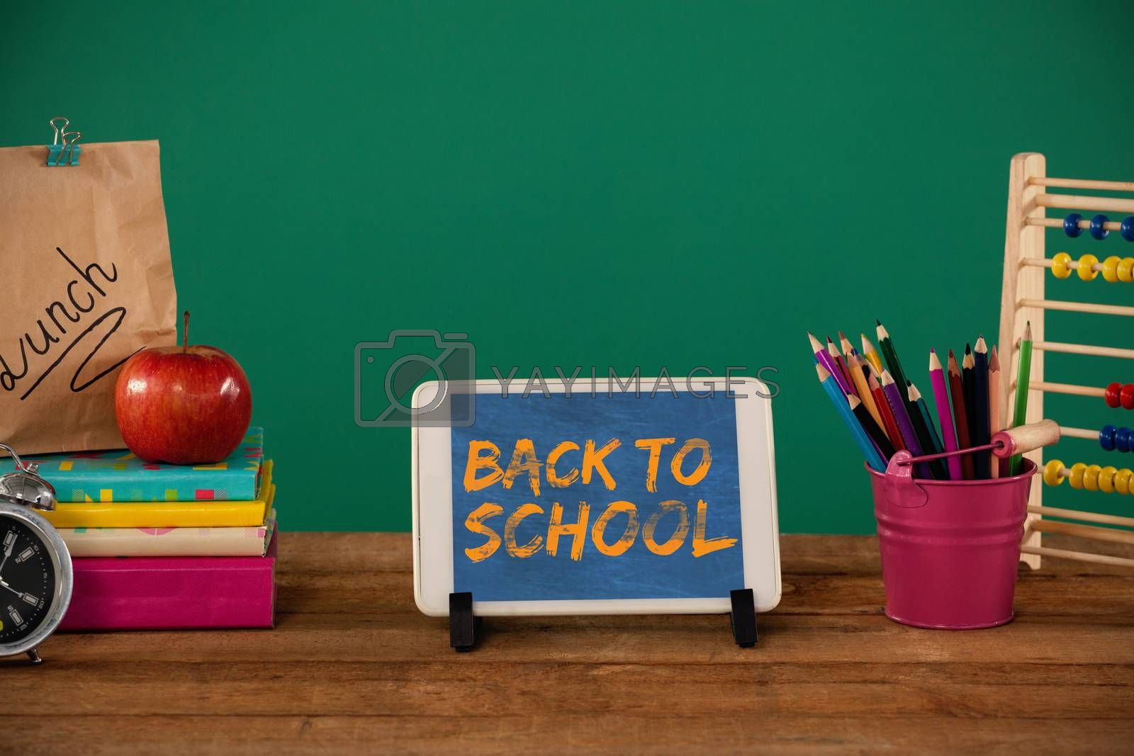 Composite image of graphic image of red back to school text by Wavebreakmedia
