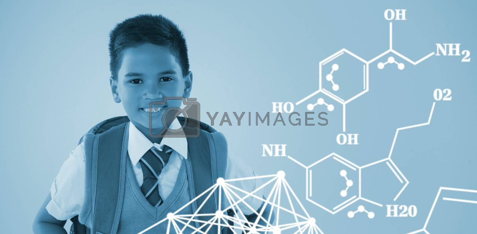 Composite image of chemical structure against white background by Wavebreakmedia