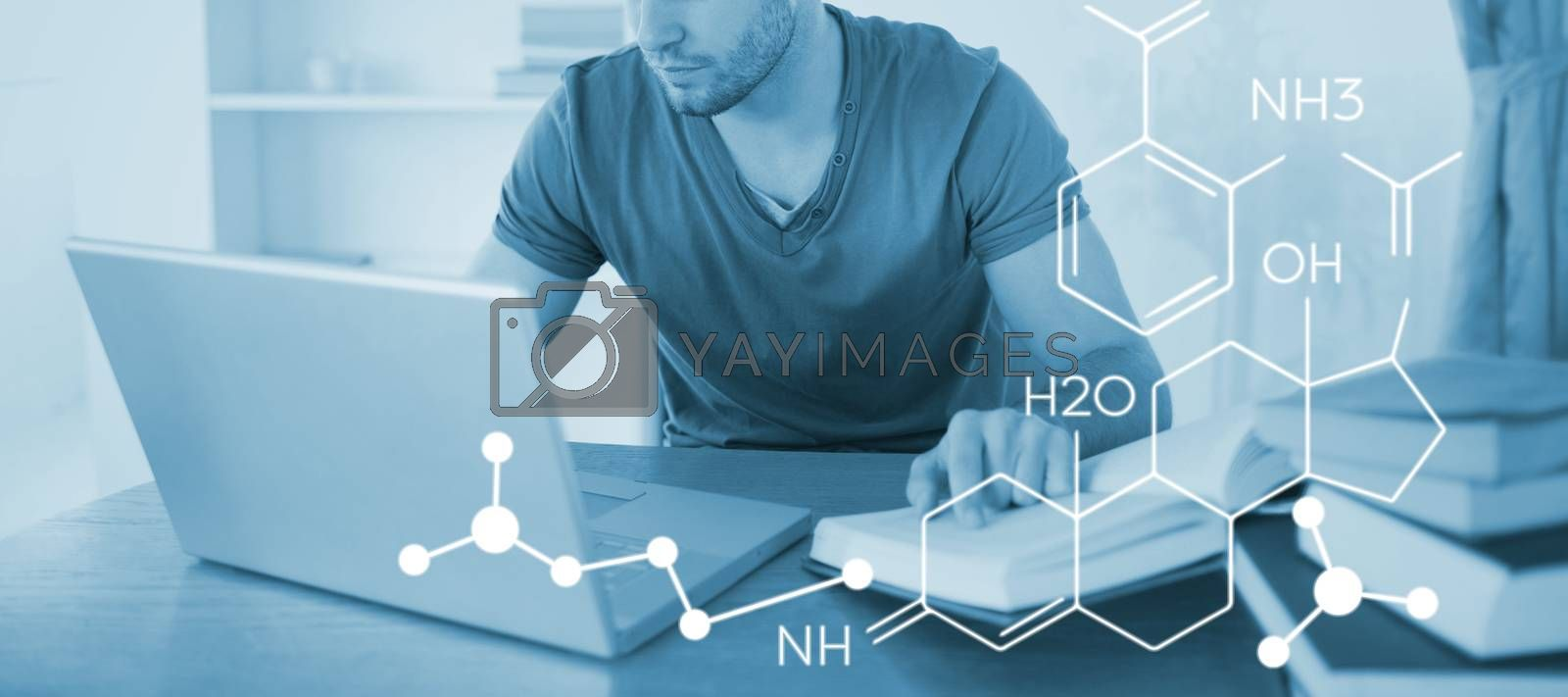 Composite image of composite image of chemical structure by Wavebreakmedia