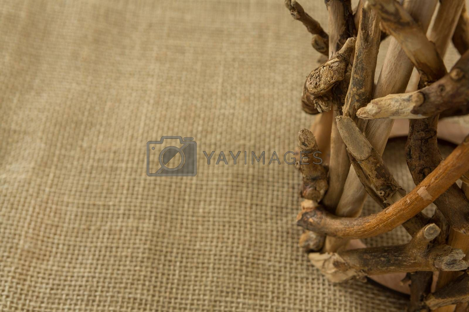Cropped image of wooden decoration by Wavebreakmedia