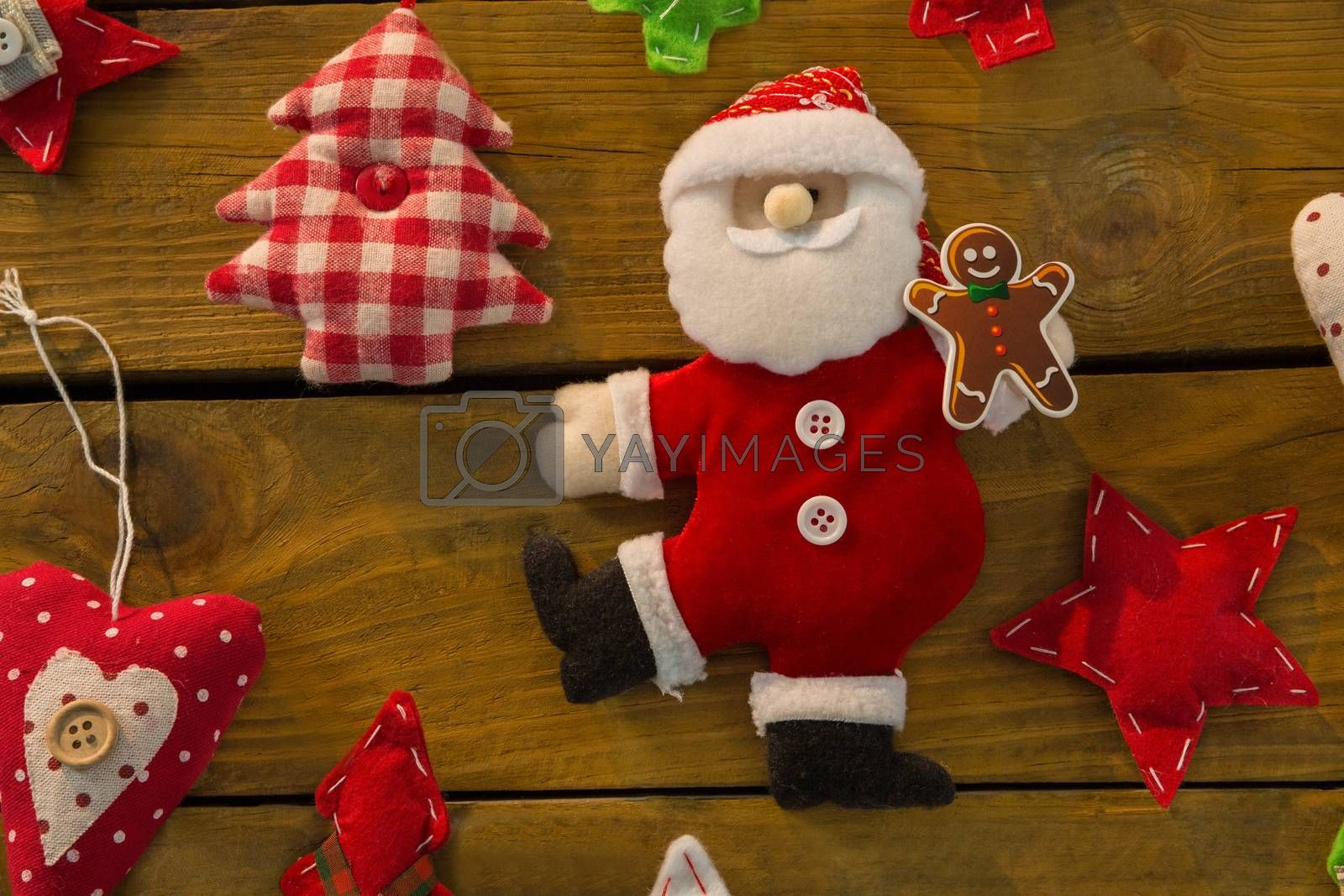 Christmas decorations on table by Wavebreakmedia