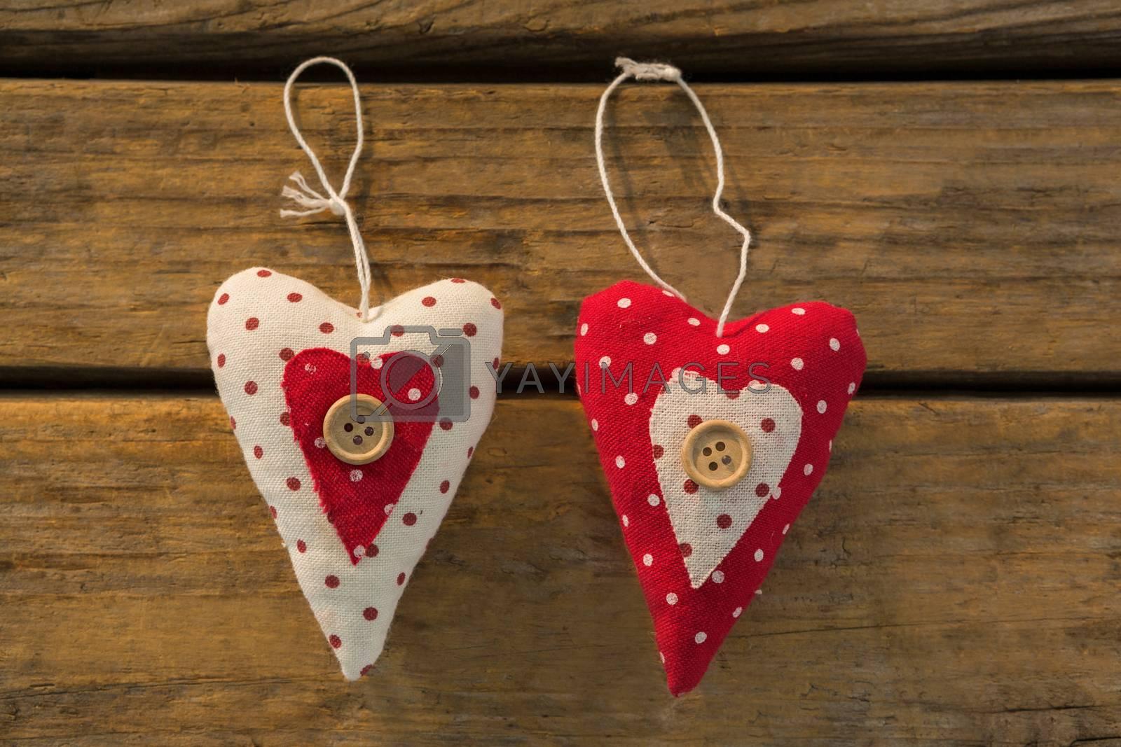 Close up of heart shape Christmas decoration by Wavebreakmedia