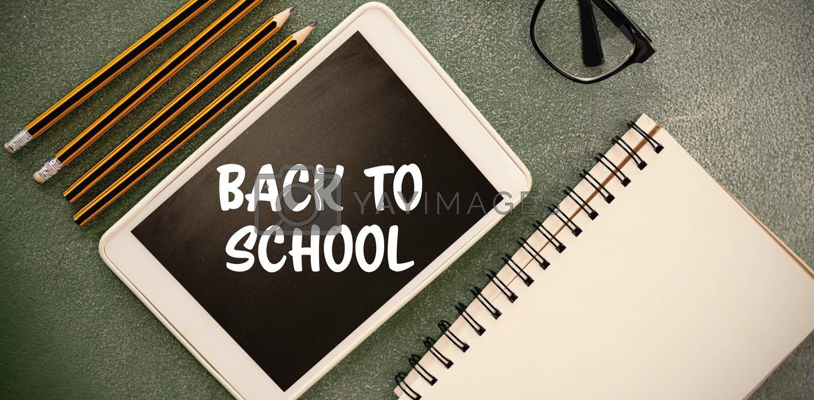 Composite image of back to school text on white background by Wavebreakmedia
