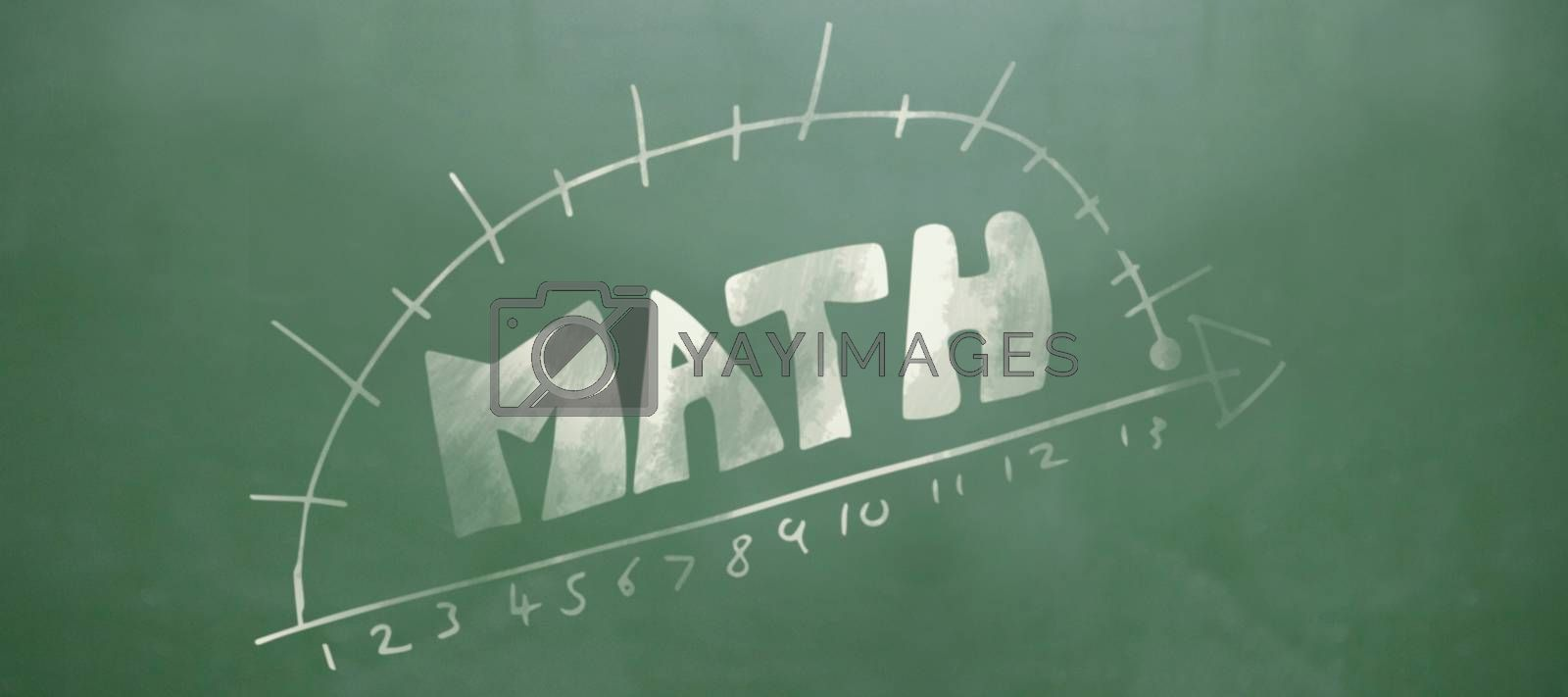 Composite image of math text with diagram and numbers by Wavebreakmedia