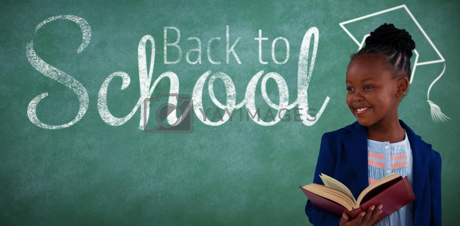 Composite image of digital image of back to school text by Wavebreakmedia