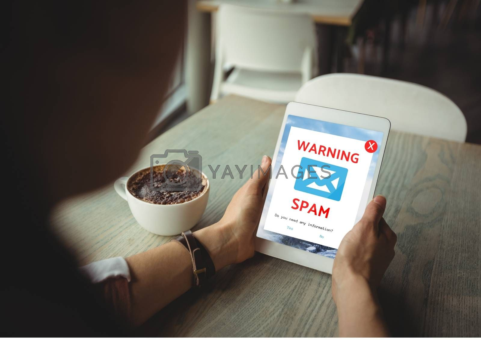Email spam on the screen by Wavebreakmedia