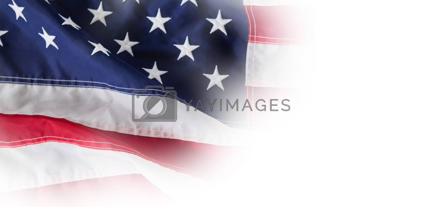 Close-up of red and white American flag by Wavebreakmedia