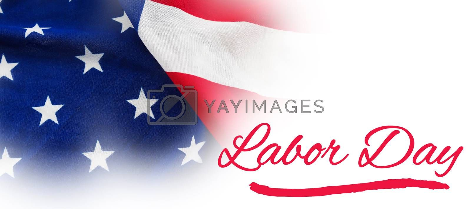 Composite image of panoramic shot of labor day text by Wavebreakmedia