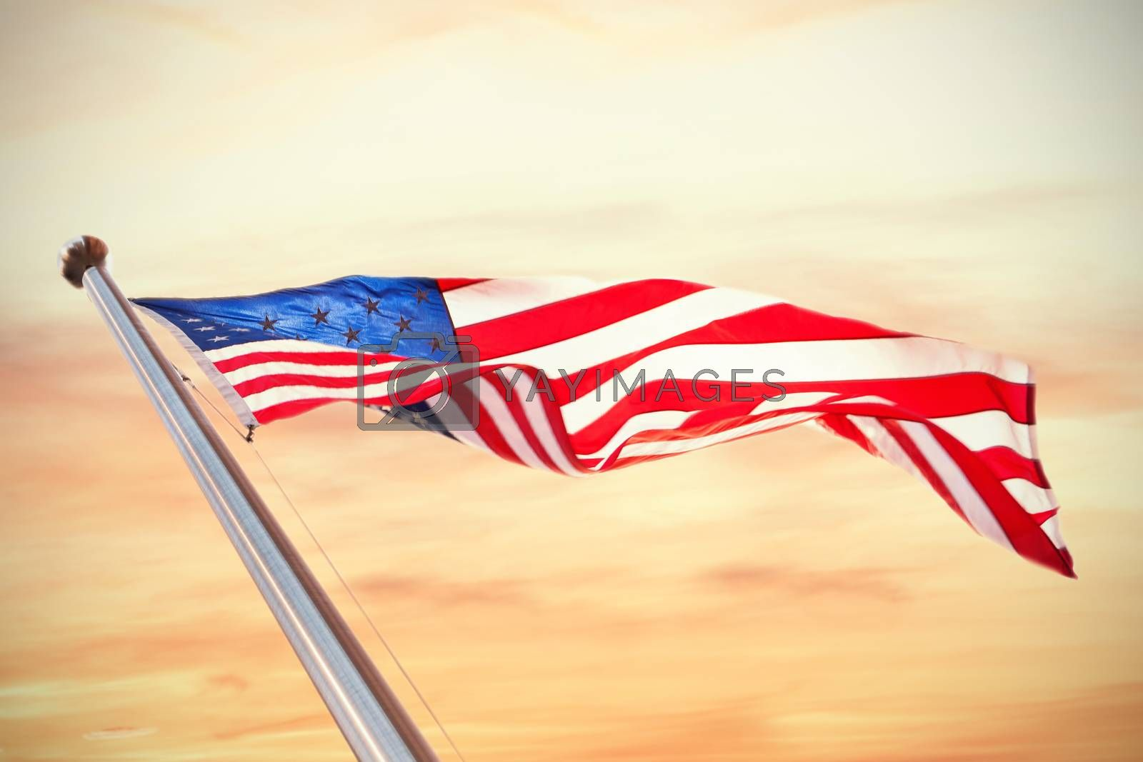 Composite image of american flag by Wavebreakmedia
