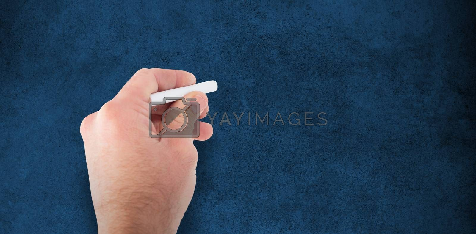 Composite image of business man writing with chalk by Wavebreakmedia