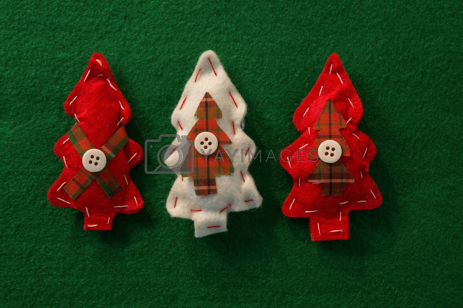 Directly above shot of Christmas tree decoration by Wavebreakmedia