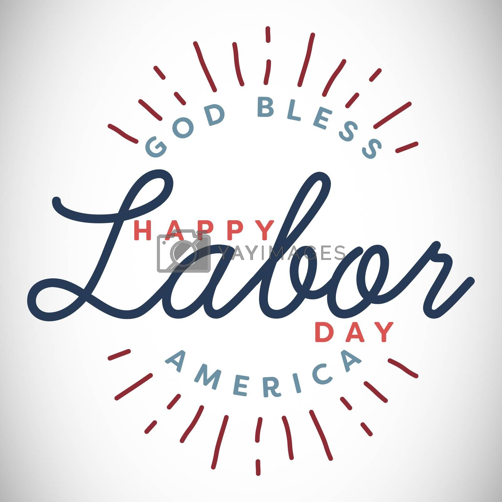 Composite image of happy labor day and god bless America text by Wavebreakmedia