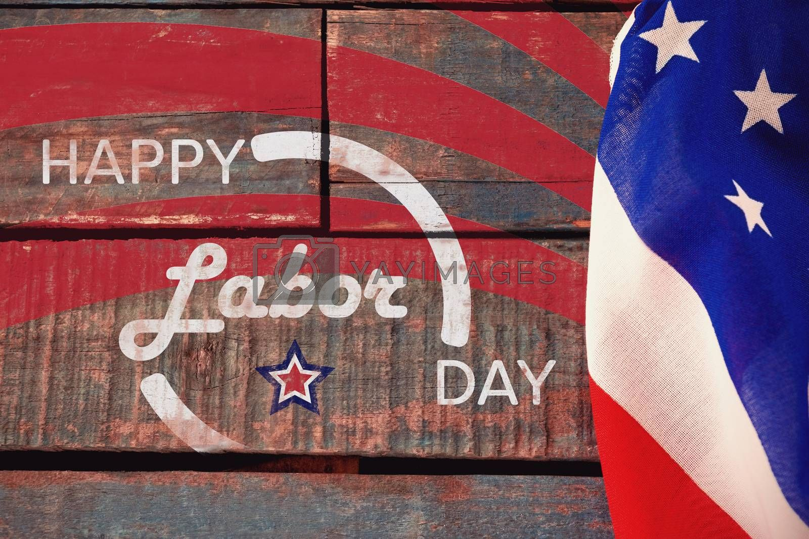 Composite image of digitally generated image of happy labor day banner by Wavebreakmedia