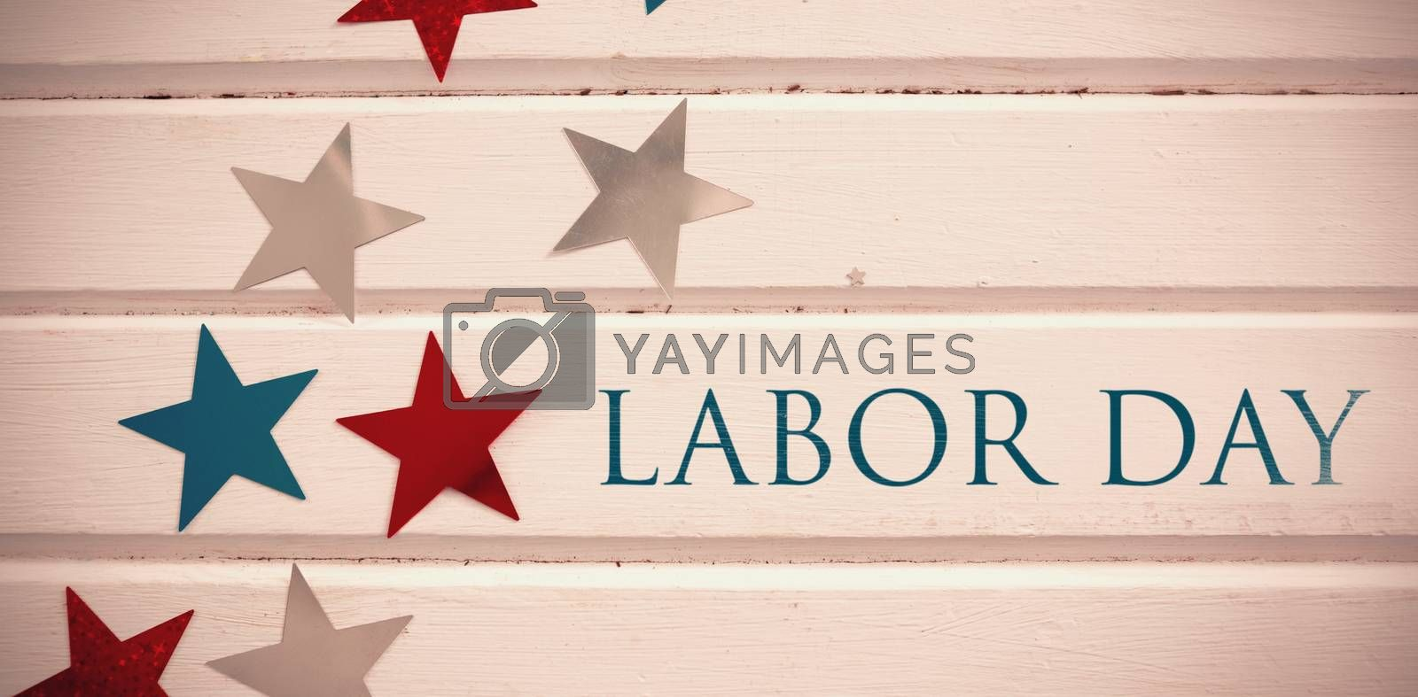 Composite image of labor day text  by Wavebreakmedia