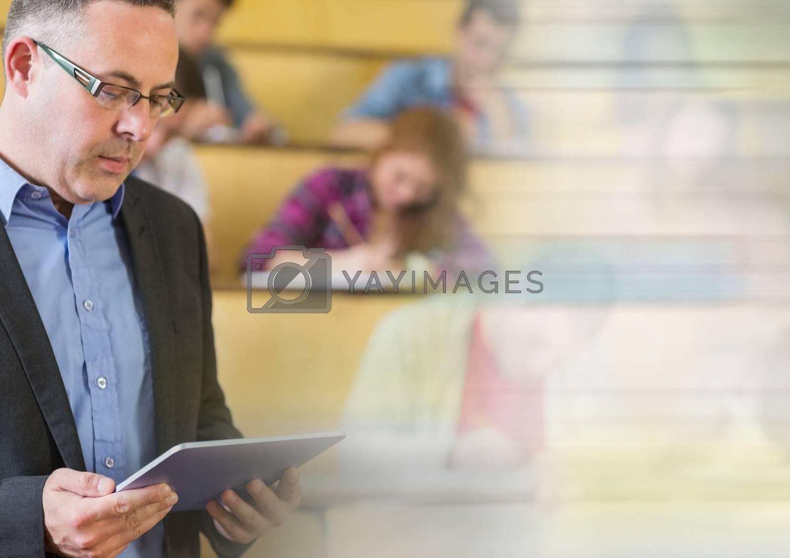 University teacher with class by Wavebreakmedia