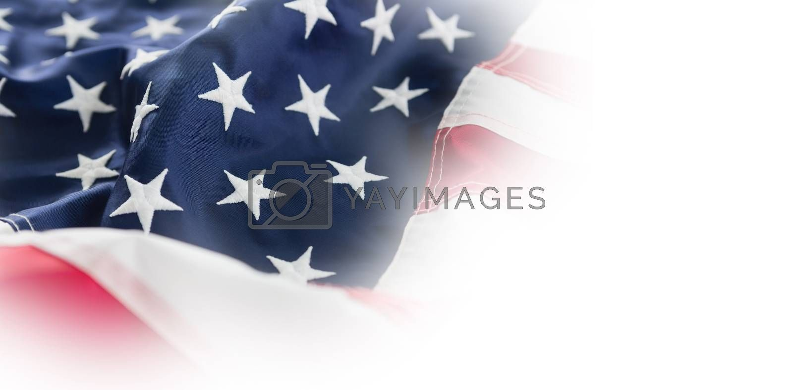 Close-up of American flag by Wavebreakmedia