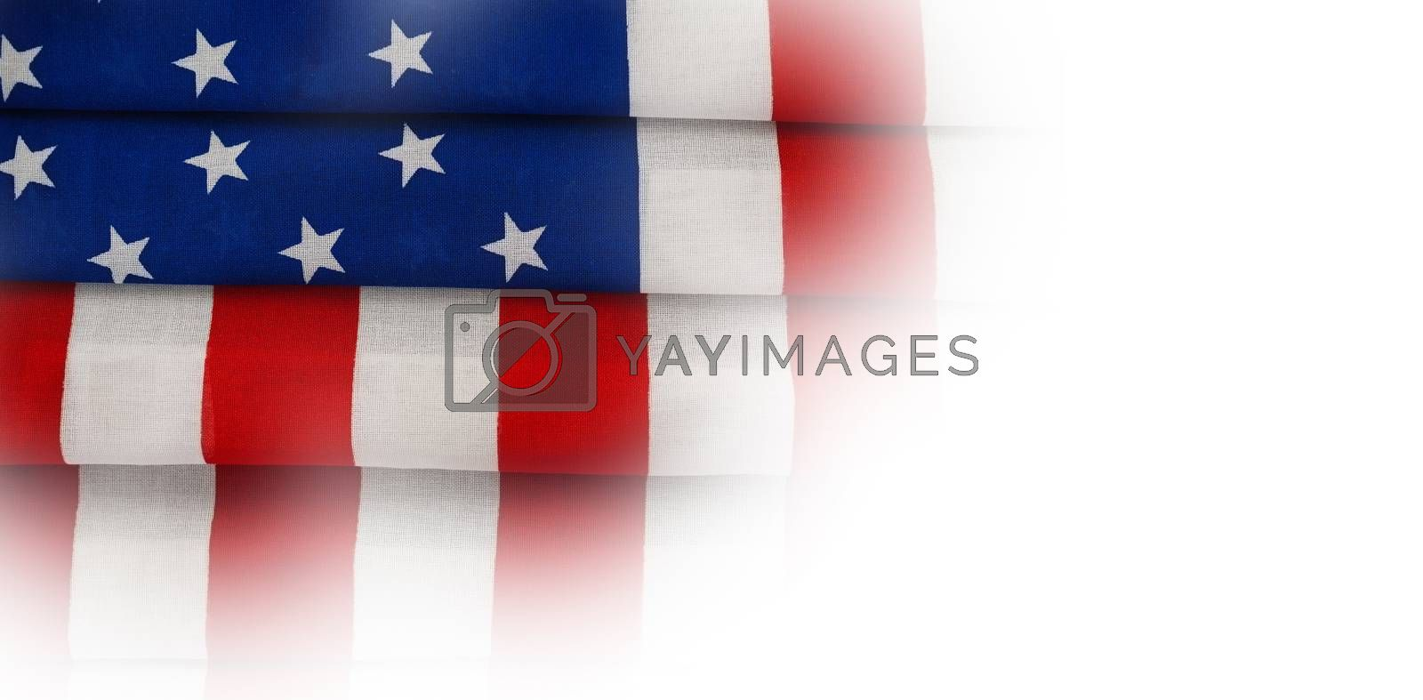 Folded American flag by Wavebreakmedia