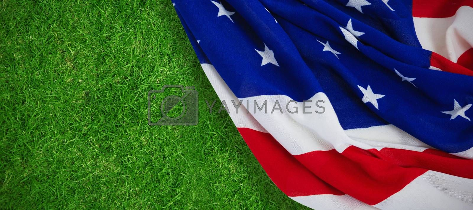 Composite image of close-up of american flag by Wavebreakmedia