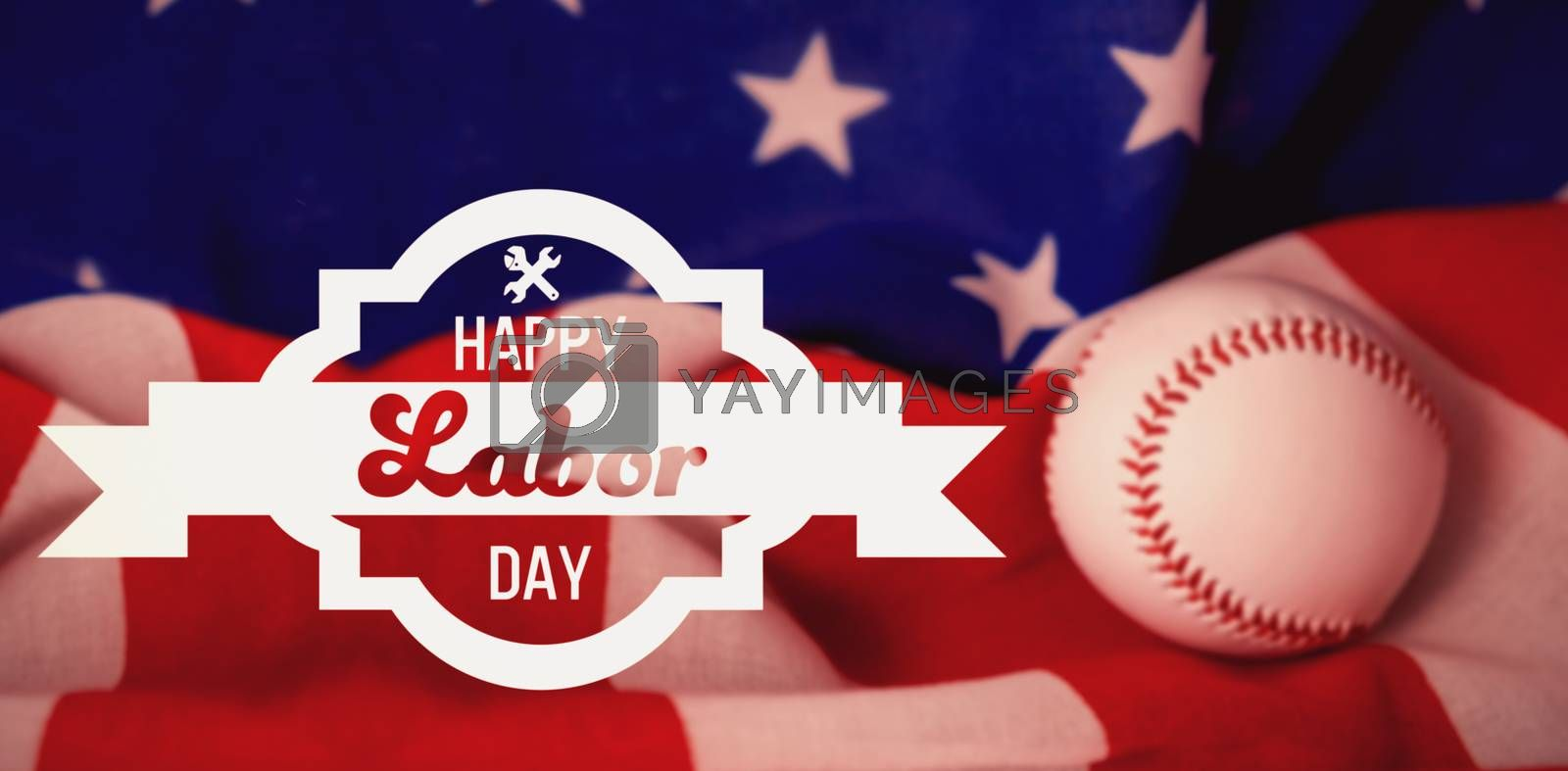 Composite image of digital composite image of happy labor day banner by Wavebreakmedia