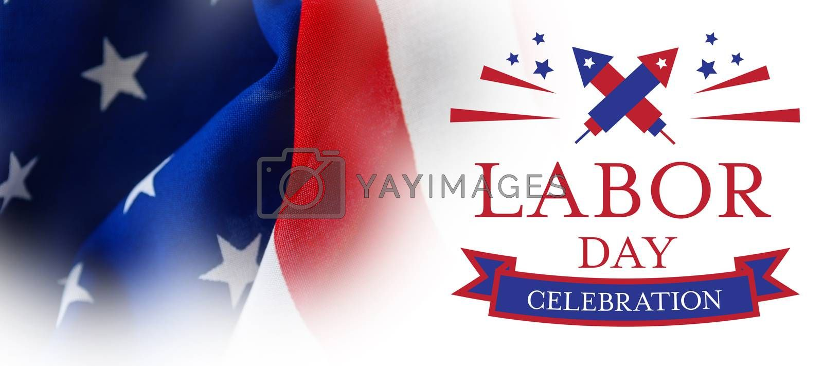 Composite image of digital composite image of labor day celebration text by Wavebreakmedia