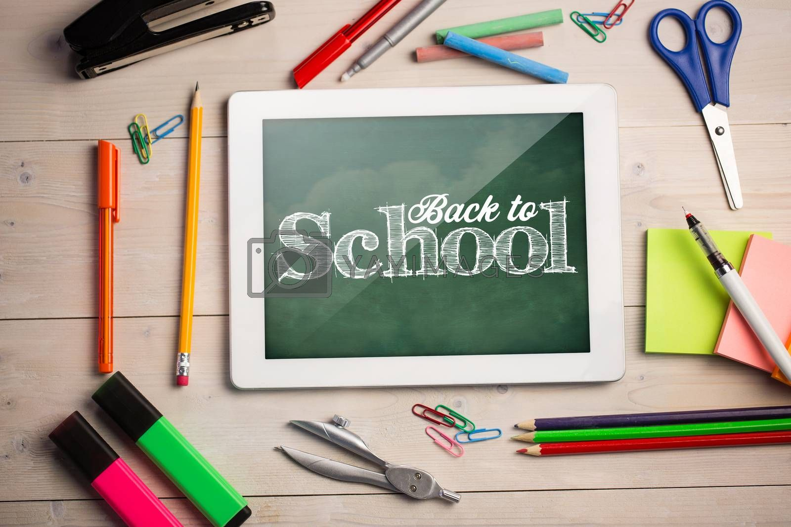 Composite image of back to school text against white background by Wavebreakmedia